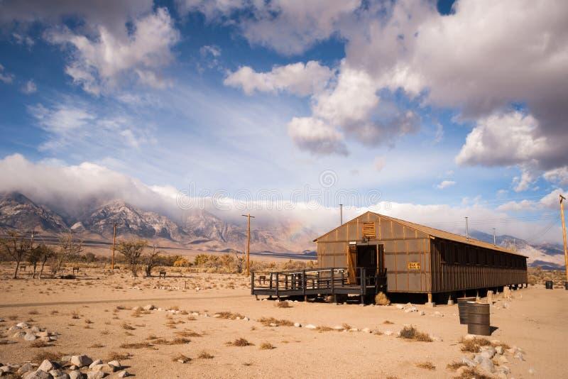 Casernes construisant le site historique national la Californie de Manzanar images stock
