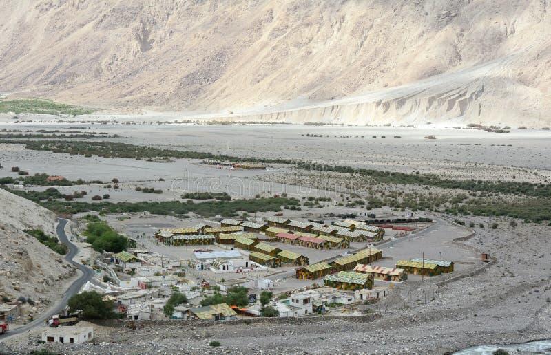 Casernes indiennes de militaires dans Ladakh photo libre de droits
