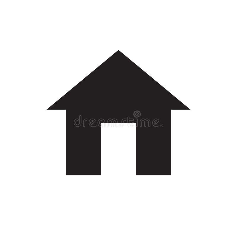 Casero - icono negro en el ejemplo blanco del vector del fondo para la página web, aplicación móvil, presentación, infographic Es libre illustration