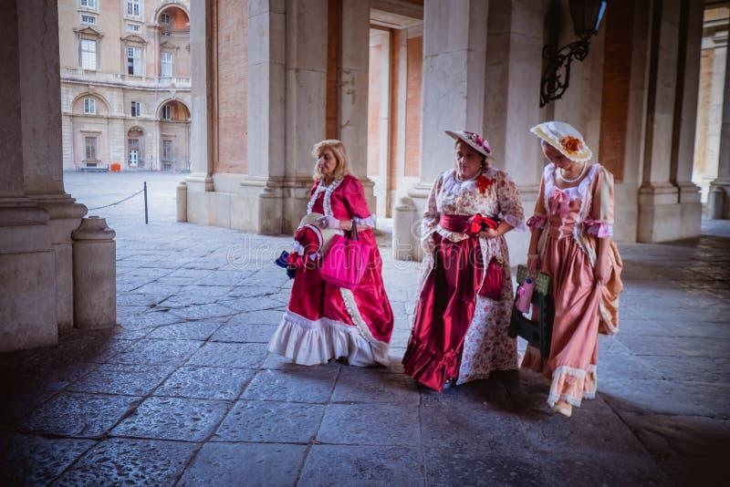 CASERTA, ITÁLIA - 24 DE SETEMBRO DE 2017: Royal Palace de Caserta fotografia de stock