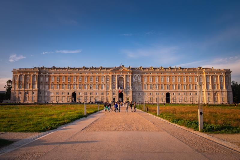 CASERTA, ITALY - SEPTEMBER 24, 2017: Royal Palace of Caserta royalty free stock image