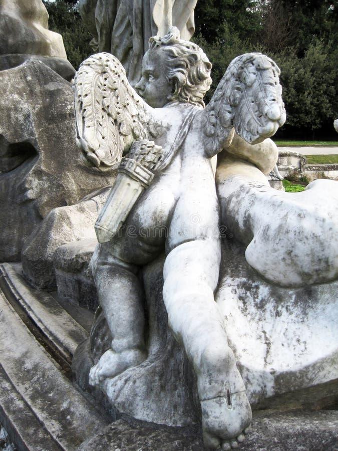 Caserta pałac królewskiego statua zdjęcia royalty free