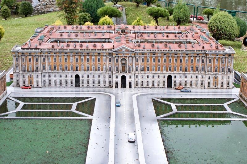 Caserta Royal Palace w miniaturze zdjęcie stock