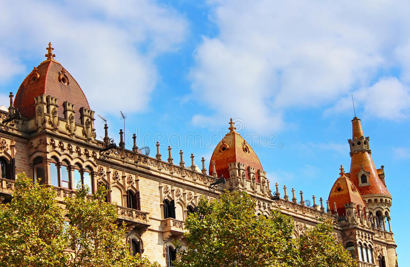 Cases Pons in Barcelona, Spain royalty free stock image