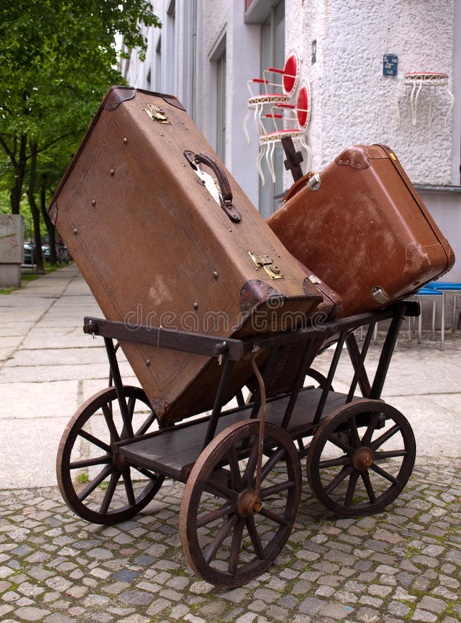 Cases In The Wagon Royalty Free Stock Image