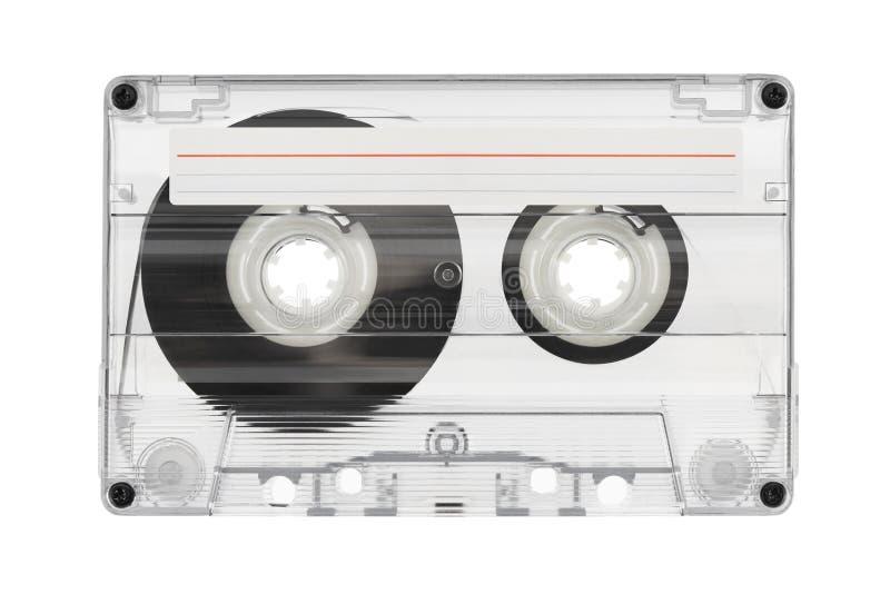 Casete audio con la etiqueta fotografía de archivo