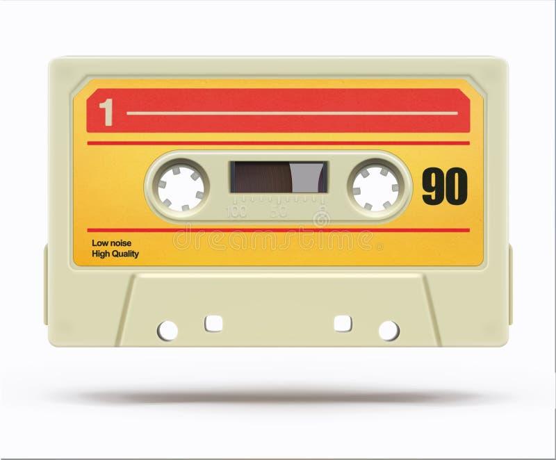 Casete audio del vintage stock de ilustración