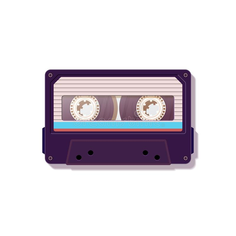 Casete audio Casete audio del vintage Nostalgia 80 del ` s del ` s 90 ilustración del vector