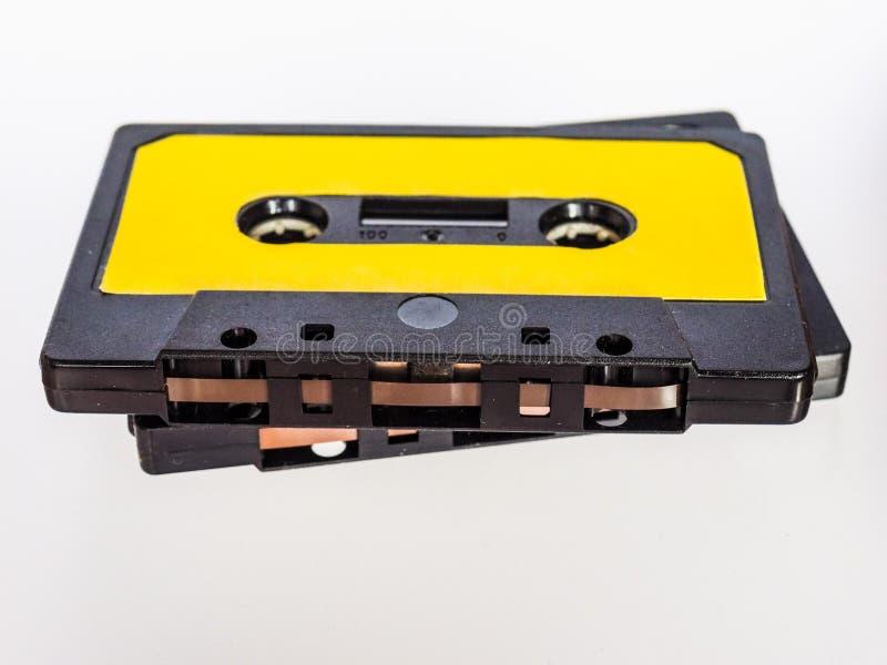 casete de cinta magnética imagenes de archivo