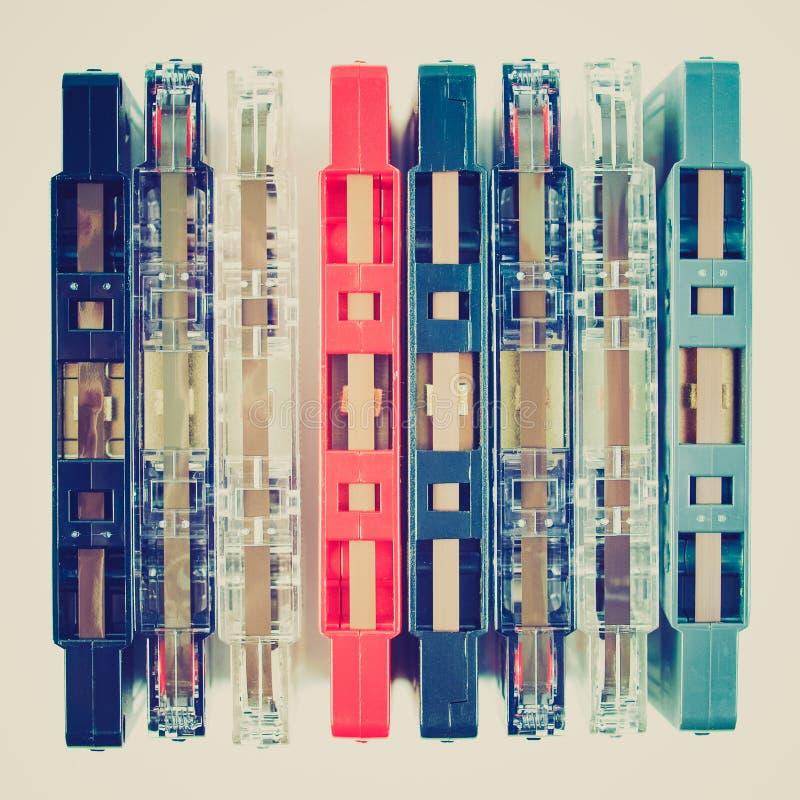 Casete de cinta retro de la mirada foto de archivo