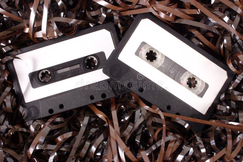 Casetes audios imagen de archivo libre de regalías