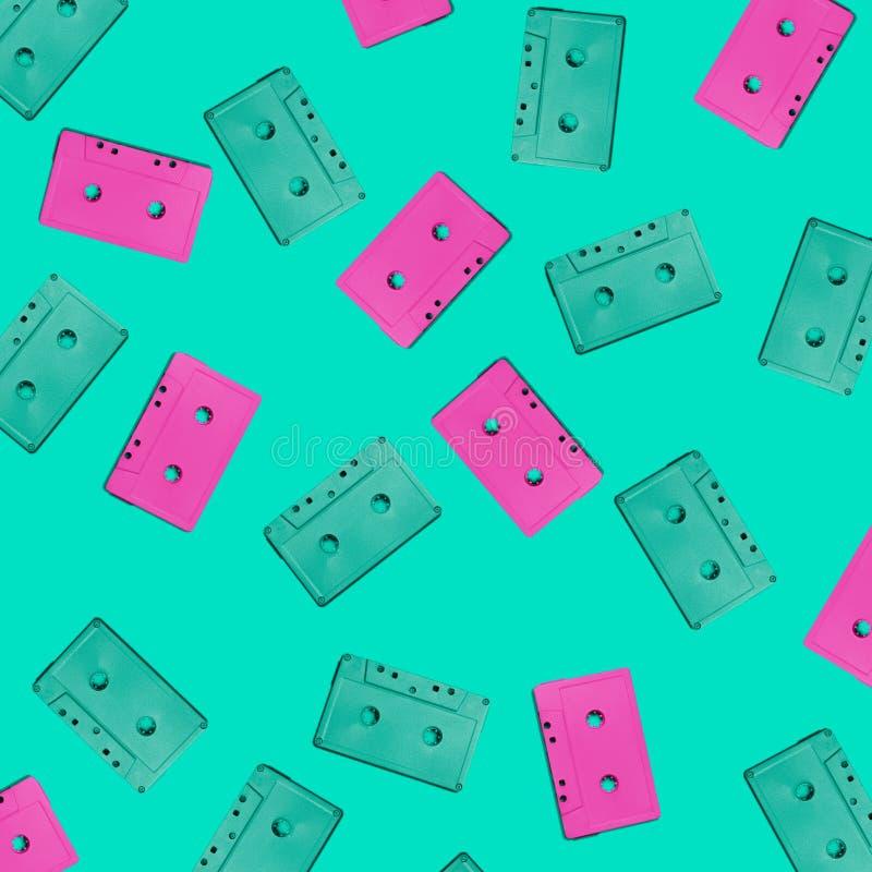 Casetes audios stock de ilustración