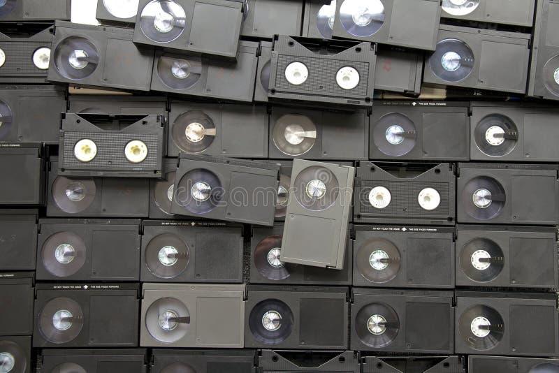 Casetes de cinta del VCR de Betamax imagen de archivo libre de regalías