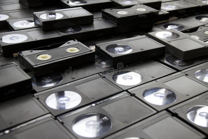 Casetes de cinta del VCR de Betamax fotos de archivo libres de regalías