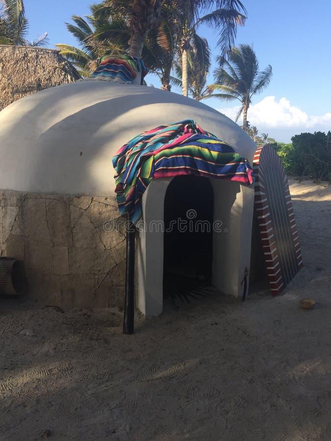 Casetta maya del sudore fotografia stock