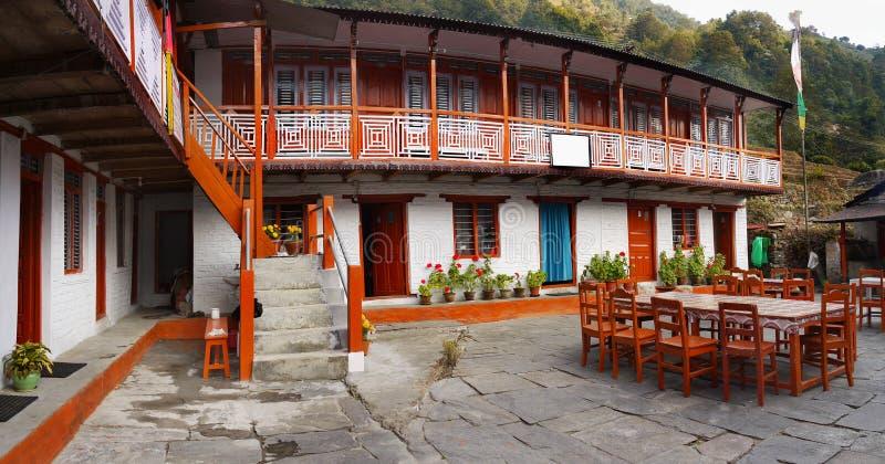 Casette dell'Himalaya, villaggio del Nepal fotografie stock