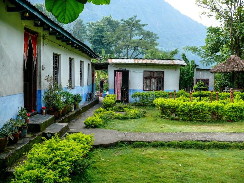 Casette in Khudi, Besisahar (Nepal) fotografia stock