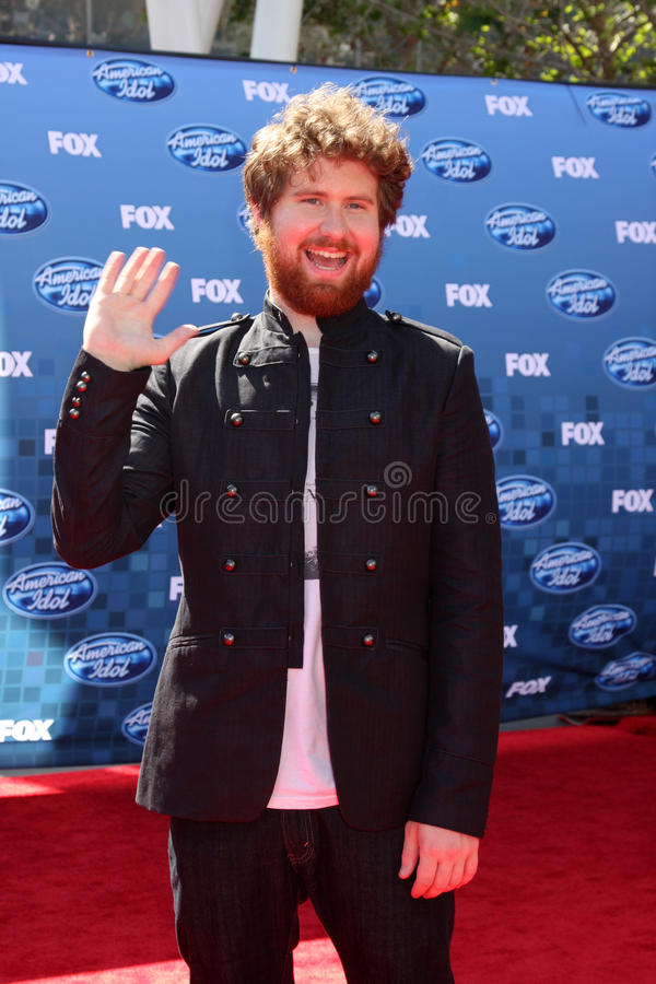 Casey Abrams. LOS ANGELES - MAY 25: Casey Abrams arriving at the 2011 American Idol Finale at Nokia Theater at LA Live on May 25, 2010 in Los Angeles, CA stock image