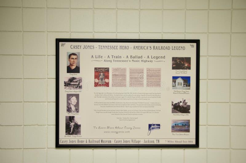 Casey Jones Tennessee Railroad Legend royaltyfri foto
