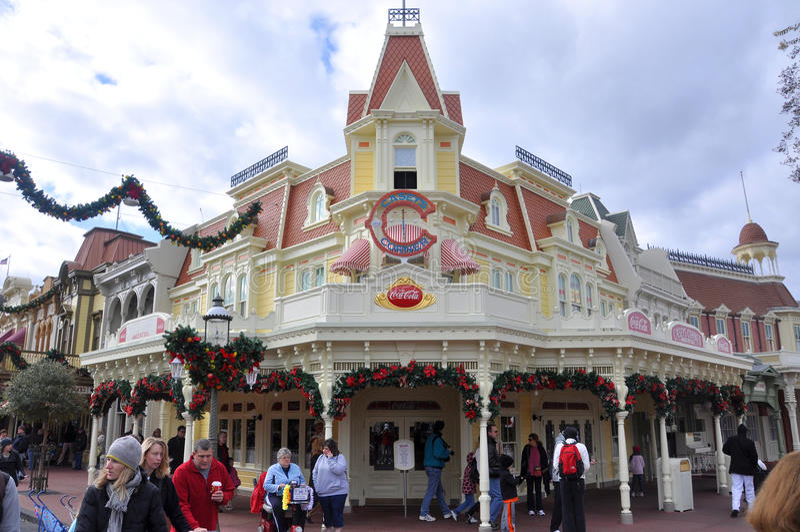 Casey's Corner Restaurant in Magic Kingdom, Disne. Y Orlando Resort, Florida, USA royalty free stock photos