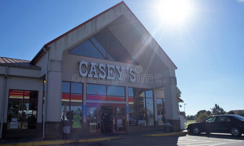 Casey`s General Store. S, Inc., is a chain of convenience stores in the Midwestern United States, primarily within the states of Iowa, Arkansas, Illinois stock photo