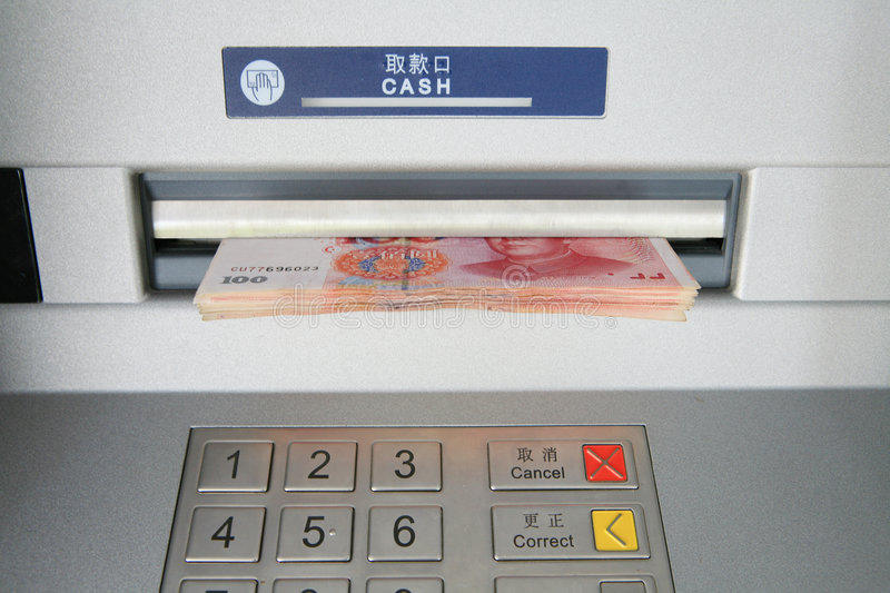 Download Cash in ATM stock image. Image of cash, travel, chinese - 6009917
