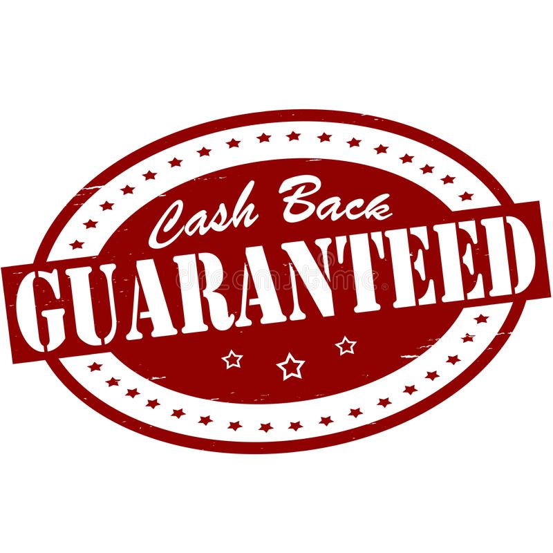 Cash back guaranteed. Stamp with text cash back guaranteed inside, illustration royalty free illustration