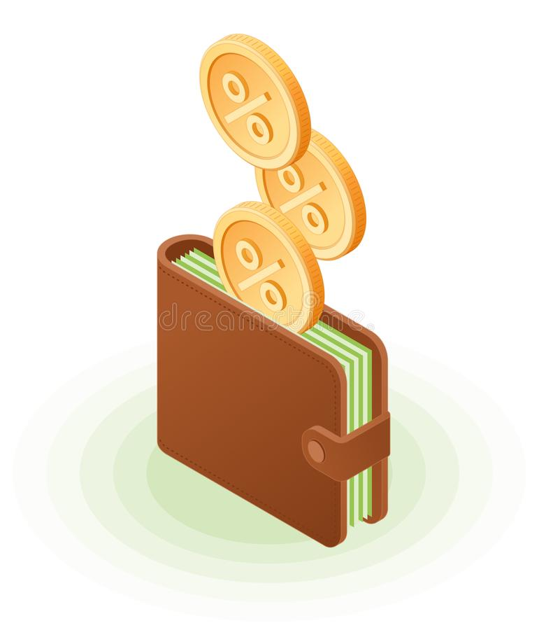 The cash back to the wallet stock images