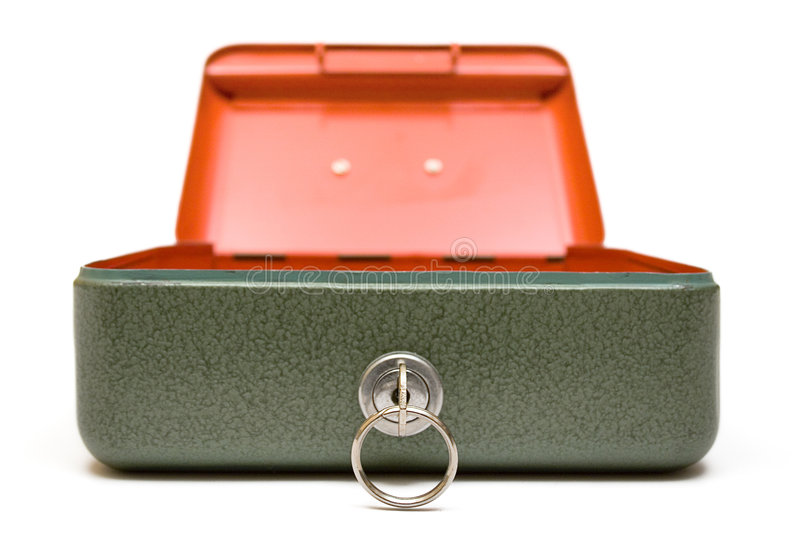 Cash Box (Front View) Stock Photo