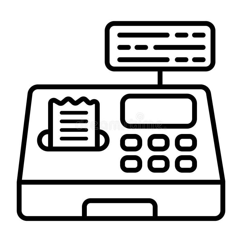 Cash box icon. Vector illustration royalty free illustration