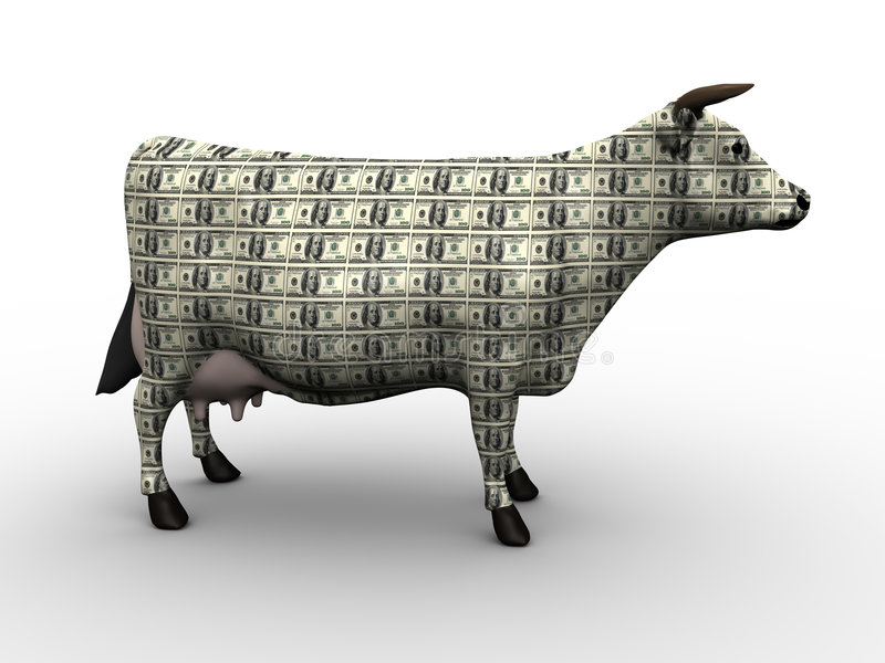 Download Cash Cow stock illustration. Image of cash, farm, coins - 8119703