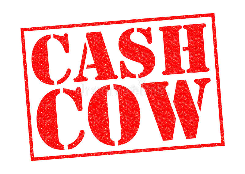 Cash cow immagini stock