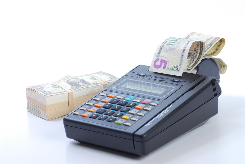 Download Cash On Credit Card Machine Stock Image - Image: 16156381