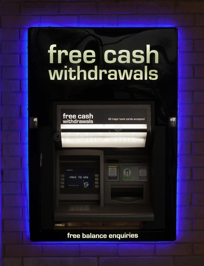 Free Cash Dispenser Free Withdrawals Royalty Free Stock Images - 110578789