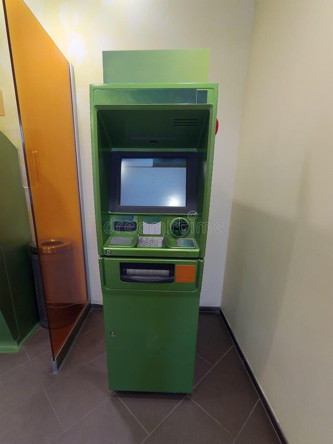 Cash dispenser green royalty free stock photography