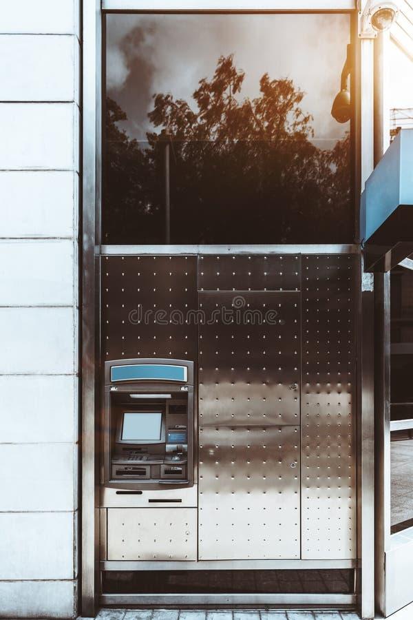 Cash dispenser on the street stock photo