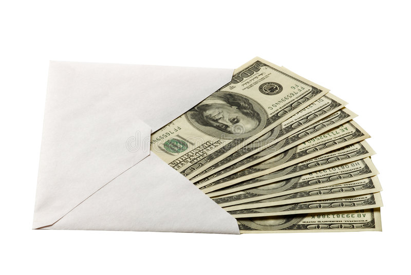 Download Cash in the envelope stock image. Image of cash, hundred - 6907775