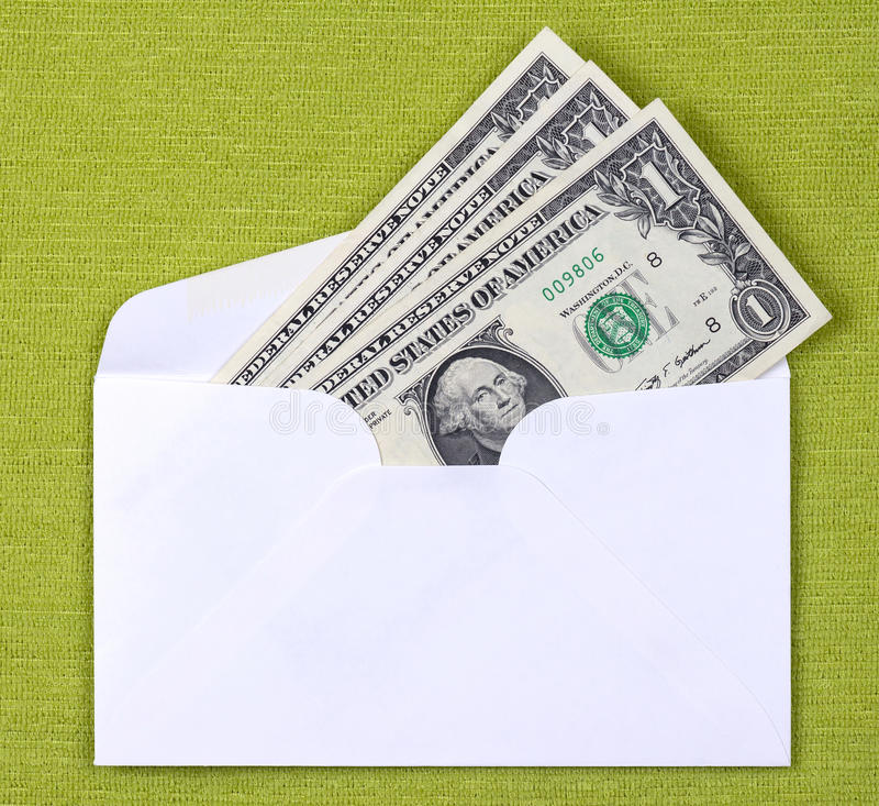Cash In An Envelope Royalty Free Stock Photos