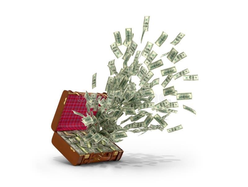 Cash explosion. royalty free illustration