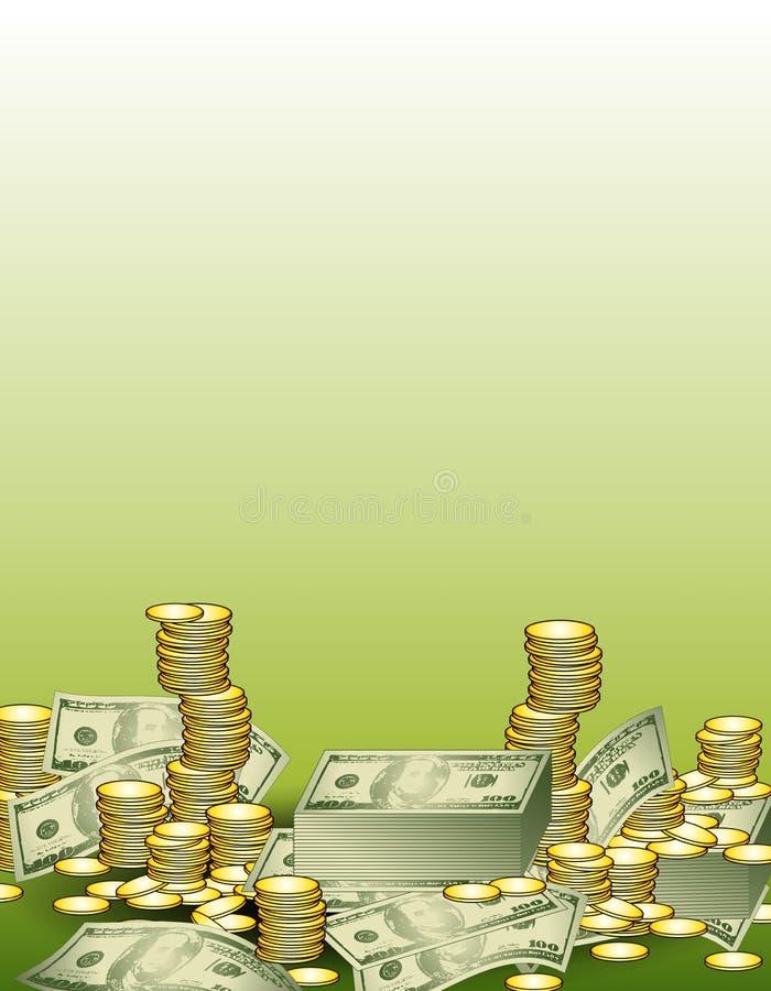 Cash Finances Background royalty free illustration