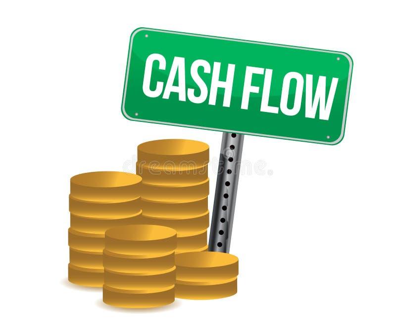Cash flow en tekens royalty-vrije illustratie