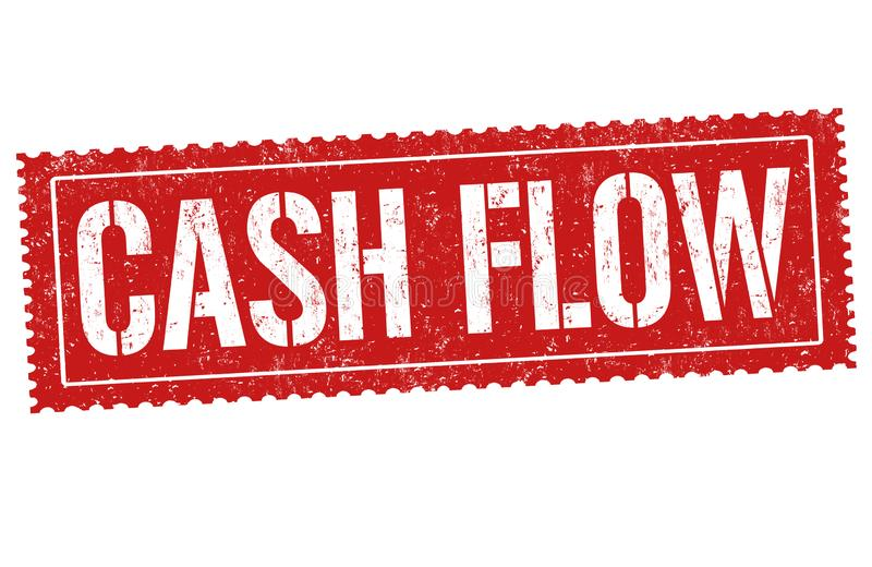 Cash flow sign or stamp. On white background, vector illustration royalty free illustration