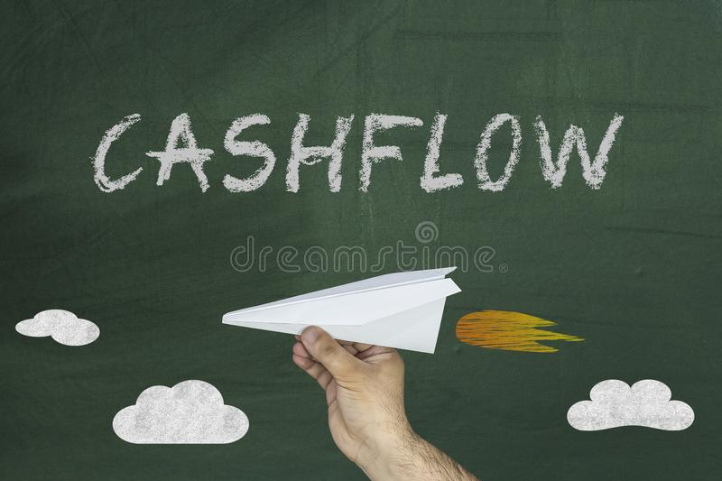 Cash flowconcept op bord royalty-vrije stock foto