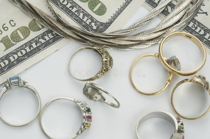Cash For Gold royalty free stock photos