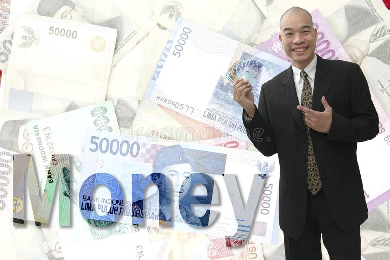 Cash in hand royalty free stock photos