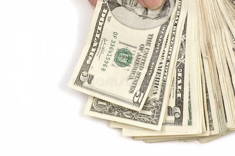Download Cash in hand stock photo. Image of fingers, buck, hand - 400040