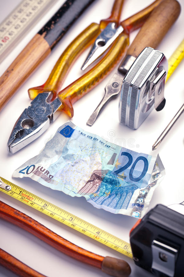 Download Cash And Hand Tools Stock Photo - Image: 20895740