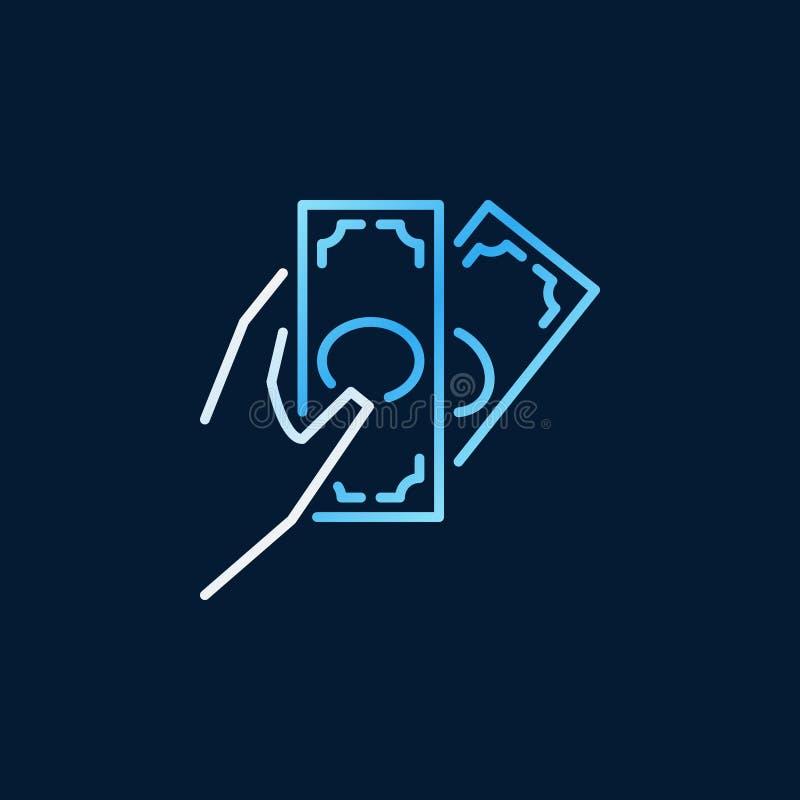 Hand Giving Money Concept Colored Vector Icon Stock Vector