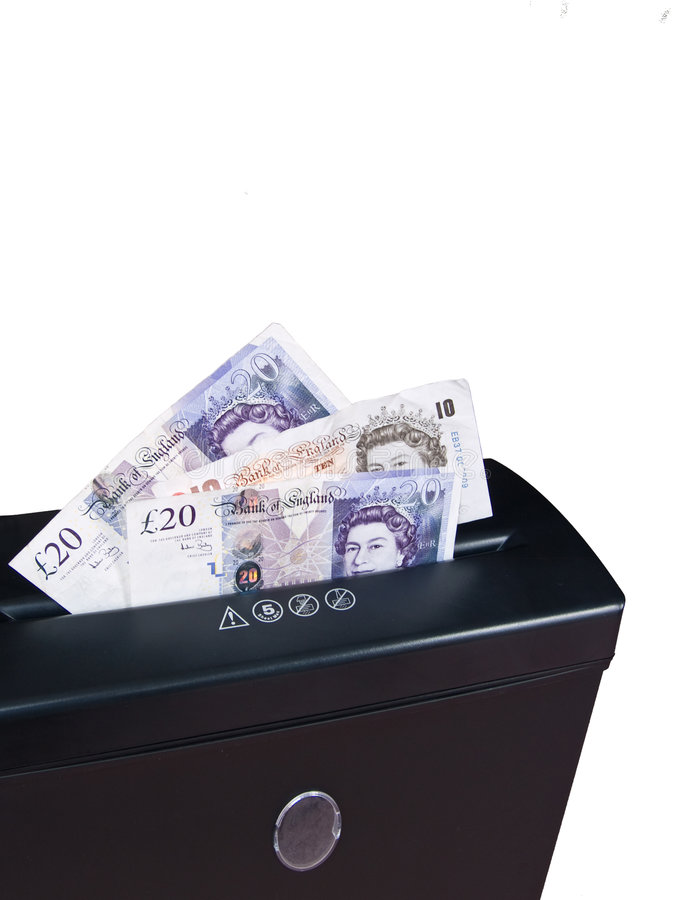 Free Cash In Shredder Royalty Free Stock Photography - 7310237