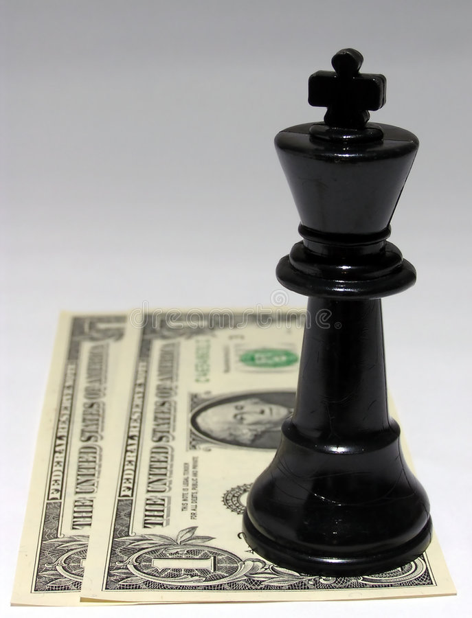 Cash is king #1 royalty free stock image